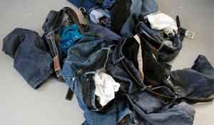 A week's supply of syndrome revealing jeans